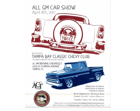All GM Car Show Animal Coalition Of Tampa - Classic car show tampa fl